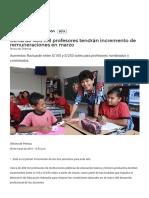 Cerca de 400 Mil Profesores Tendrán Incremento de Remuneraciones en Marzo _ Gobierno Del Perú