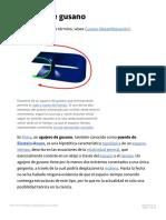 Agujero de Gusano - Wikipedia La Enciclopedia Libre