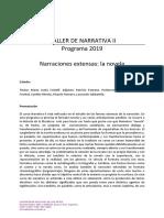 Programa - Taller de Narrativa II 2019