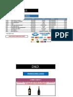 Listado de Precios D&D