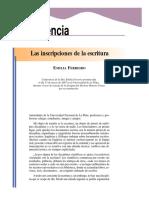 Las Inscripciones de La Escritura. Emilia Ferreiro