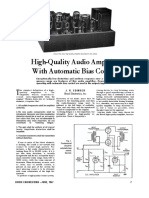 High-Quality Audio Amplifier With Automatic Bias Control