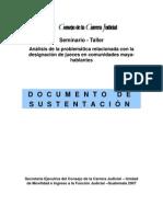 Documento sustentación -seminario Huehuetenango