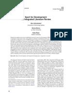 SportforDev a Critical Review