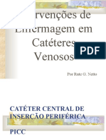 CATERES VENOSOS ENFERMAGEM