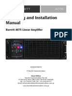 4075 Linear Amplifier System Manual
