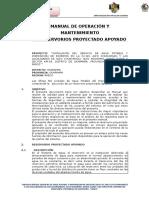 Manual de Operación y Mantenimiento de reservorio