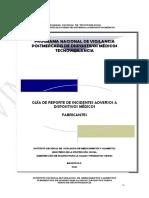 Guía de Reporte de Incidentes Adversos a Dispositivos Médicos