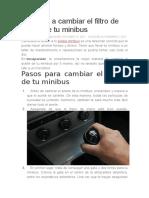 Aprende a cambiar el filtro de aceite de tu minibus.docx