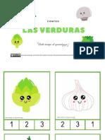 tarjetas las verduras
