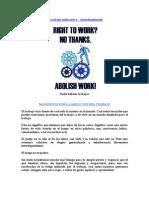 MANIFIESTO POR LA ABOLICION DEL TRABAJO