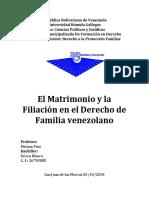 El Matrimonio y la Filiación en el Derecho de Familia venezolano.docx