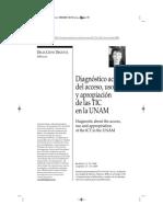 Diagnóstico del uso de las TIC en la UNAM