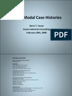 ODS & Modal Case Histories