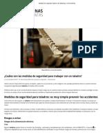 Medidas de Seguridad Taladro _ de Máquinas y Herramientas