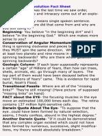 Evangelism Evolution Fact Sheet
