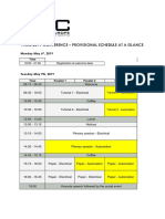 16th PCIC Europe Conference-Paris-Provisional Schedule at Glance