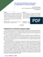 Damiani, Texto FUndamentos de Geografia Urbana