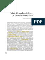DEL ESPIRITU DEL CAPITALISMO AL CAPITALISMO ESPIRITUAL