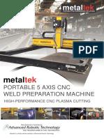 5 Axis CNC Plasma Weld Prep Machine