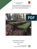 Informe Técnico de Una Obra de Estabilización de Talud