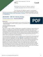CBD-55, Glazing Design