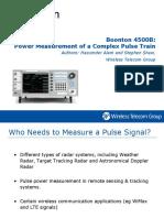 4500B Power Measurement of Complex Pulse Train