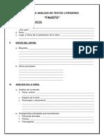 Ficha de Análisis de Textos Literarios
