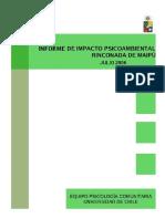Equipo Psicologia Comunitaria - Impacto Psicoambiental Rinconada de Maipu