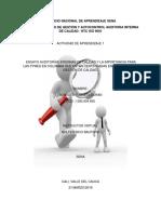 Ensayo Sobre Auditorias Internas y Las Pymes en Colombia