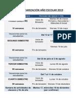 Calendarizaci211n a209o Escolar 2019