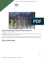 ¿Qué es el steel framing_ Una guía para saber de qué se trata