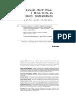 Cap 1 Educação Profissional e Tecnológica No Brasil Contemporâneo Cap 1