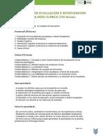 Plan de Estudios Diplomado en Evaluación e Intervención en Psicología Clínica