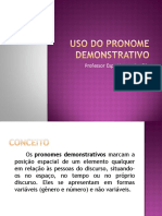 Uso Do Pronome Demonstrativo