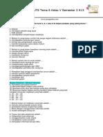 Soal PTS UTS Tema 6 Kelas 5 Semester 2 kurikulum 2013.pdf