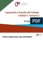 Ergonomia y Estudio del Trabajo  - Unidad 1 - Semana 01 - Sesion 1  Productividad.pptx