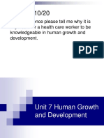 HO Unit 7 Human Growth and Development
