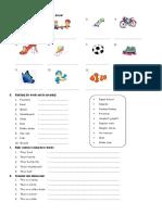 English Exercise  of 1st Grade, playground.docx