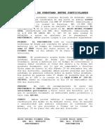 Modelo Contrato de Prestamo de Dinero Pizango