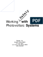 Working Safely With Photo Voltaic Systems