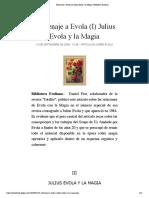 Homenaje a Evola (I) Julius Evola y la Magia | Biblioteca Evoliana.pdf