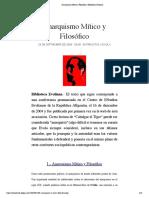 Anarquismo Mítico y Filosófico | Biblioteca Evoliana
