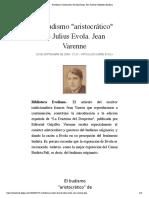 "El budismo ""aristocrático"" de Julius Evola. Jean Varenne | Biblioteca Evoliana"
