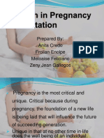 Nutrition in Pregnancy and Lactation