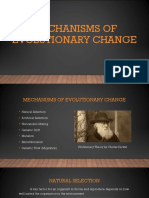 Mechanisms of Evolutionary Change