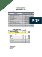 Cantidades de Obra Electrica Presupuesto Reflectores