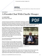 A Fireside Chat With Charlie Munger - MoneyBeat - WSJ