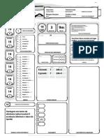 D&D 5e - Ficha de Personagem Automática Wargen Guerreiro