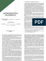 Metodo de La Antropología Filosófica